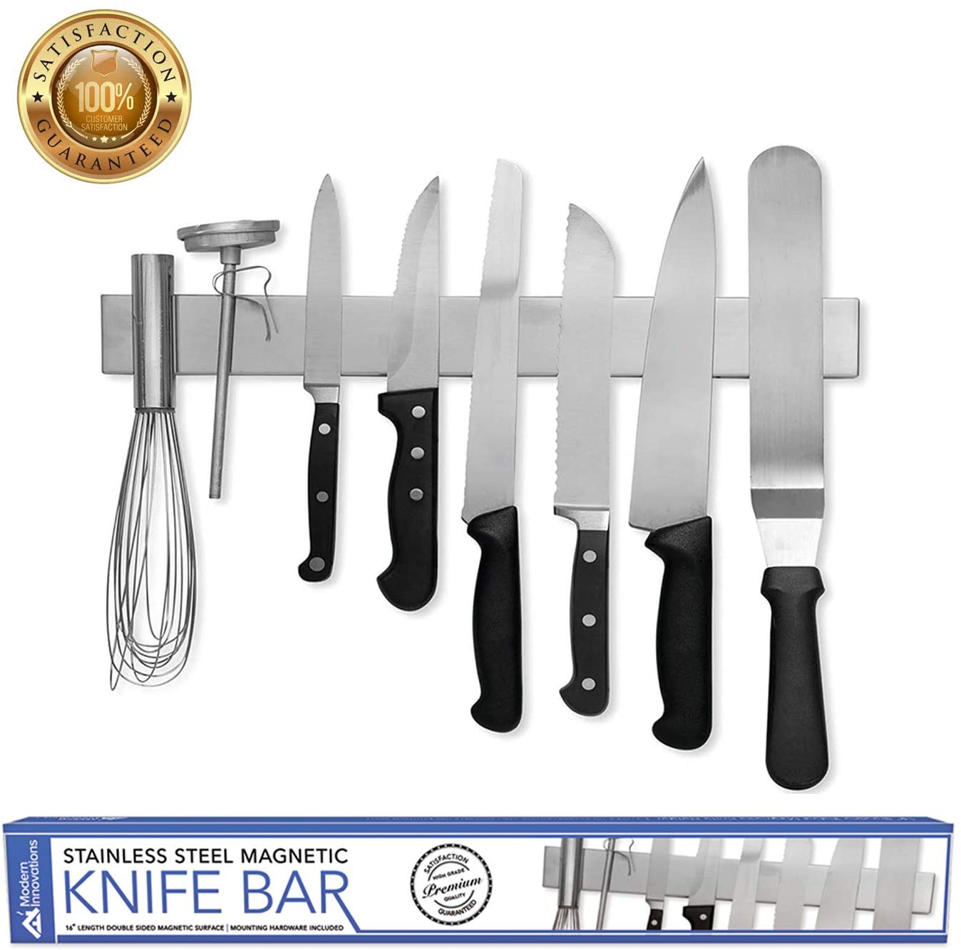 16 Double Sided Magnetic Knife Holder Rack Block Kitchen Bar Organizer 817496023129 Ebay